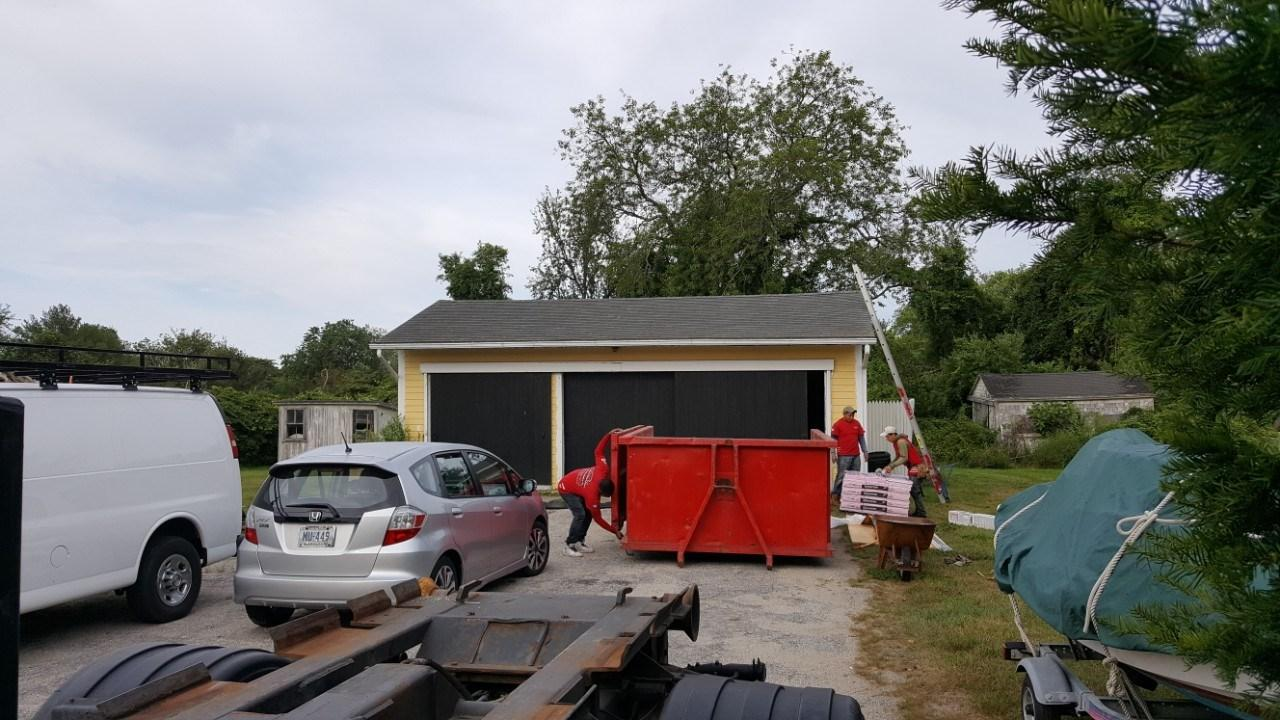 Roof Replacement on Little Compton, RI Garage - After Photo
