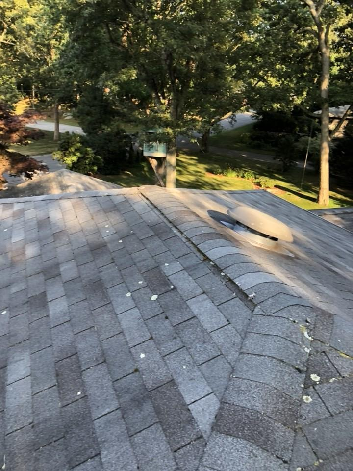 Aging roof in East Greenwich, RI gets Tamko solution - Before Photo