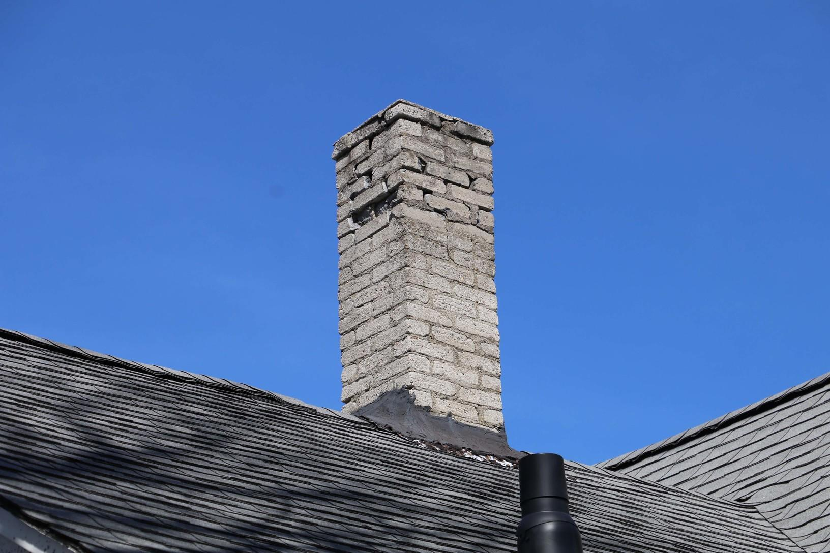 Chimney removal in New Bedford, MA - Before Photo