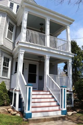 Beautiful new porch on 2 family home in Fairhaven, MA