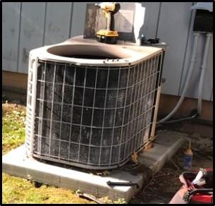 Air Conditioner replacement - Before Photo