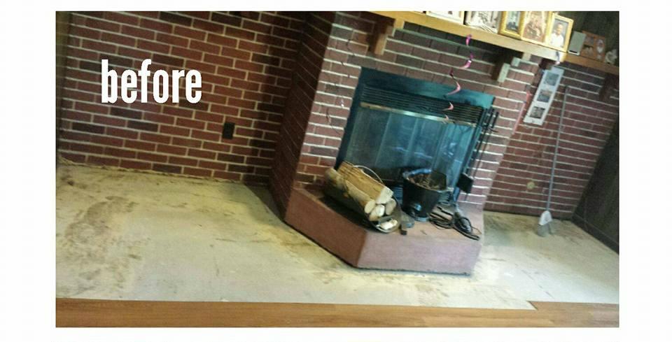 Living Room Laminate Job in Woodbridge, NJ - Before Photo