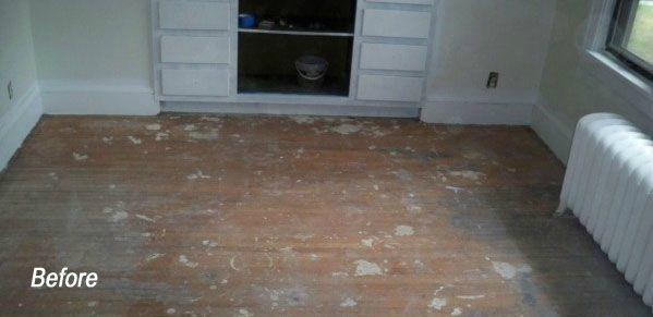 Hardwood Floor Installation For Sun Room In Piscataway, NJ - Before Photo