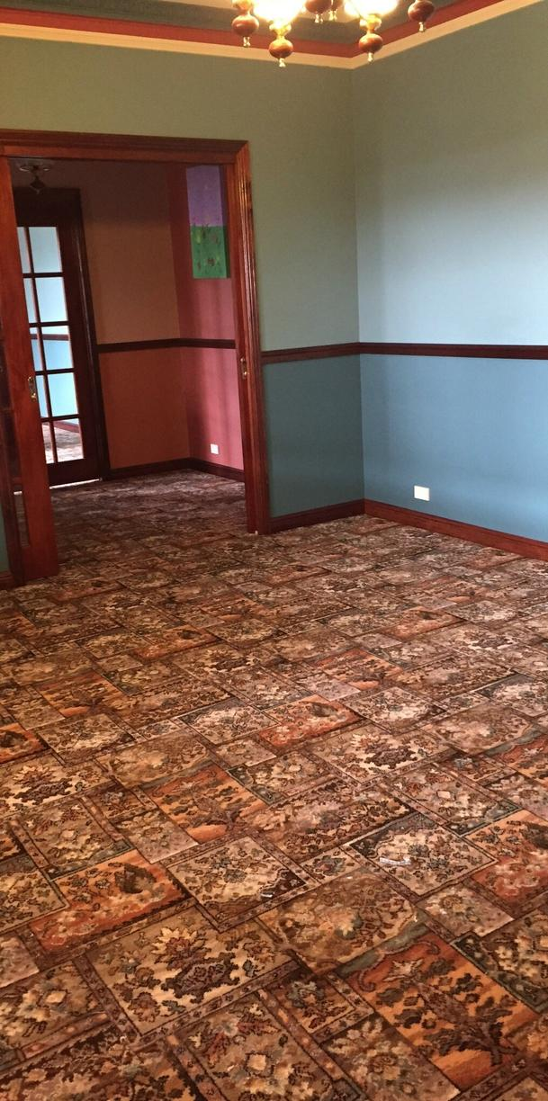 Converting Office Into A Family Room With Carpet Installation in Union, NJ - Before Photo
