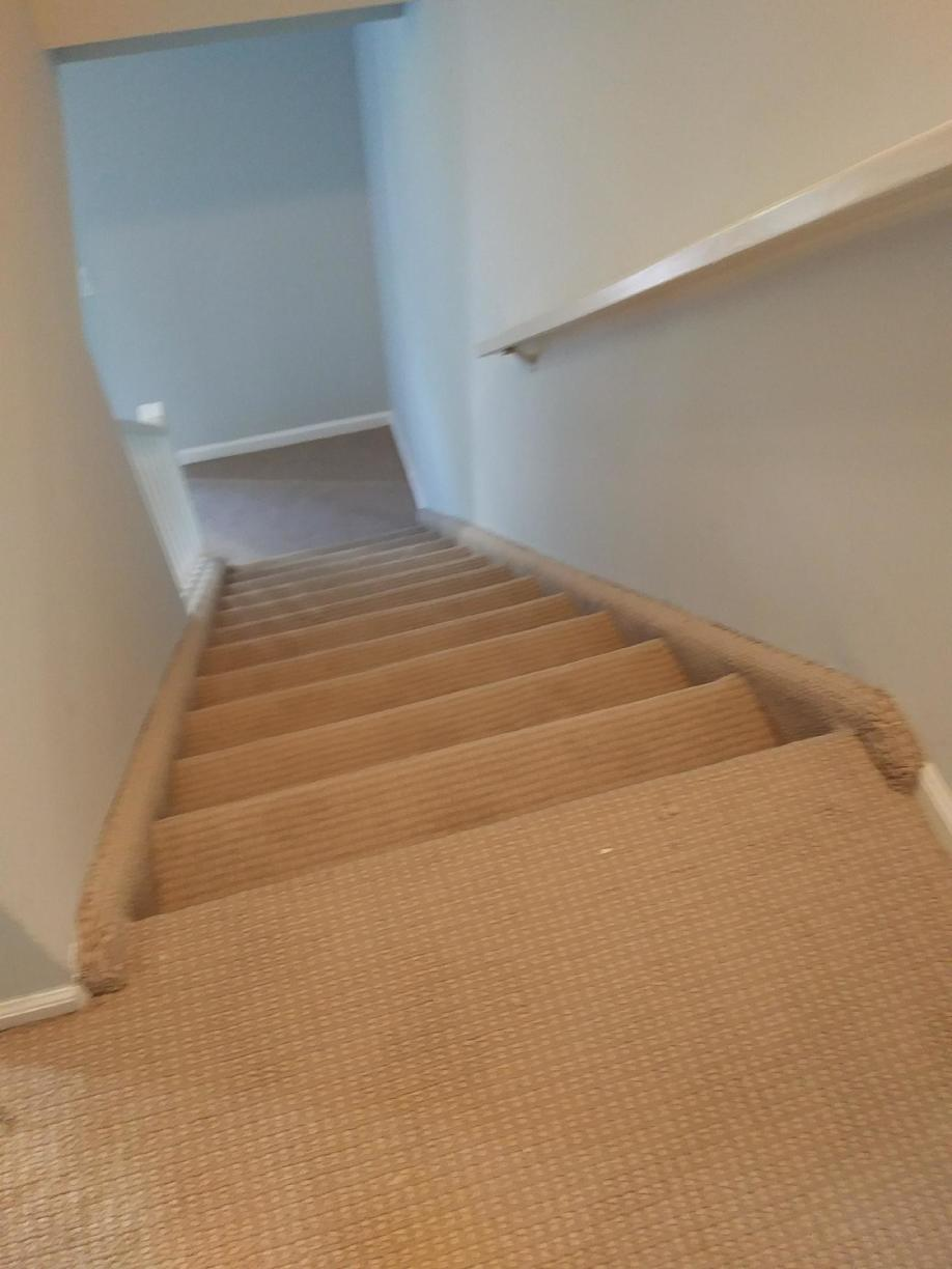 Pattern Carpet Stair Installation in South Amboy NJ - After Photo