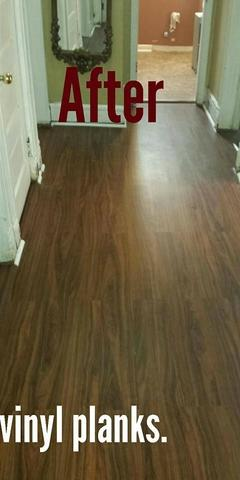 Interlocking vinyl planks installed in East Brunswick, NJ. - After Photo