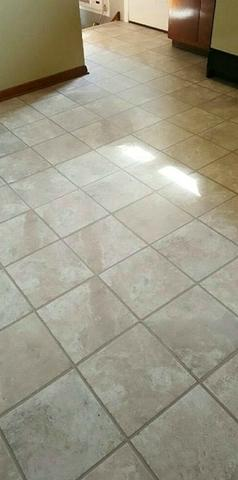 Kitchen Floor Replacement with Porcelain Tile in East Brunswick, NJ