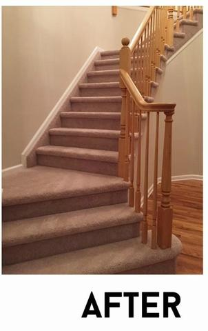 Intricate Stair Carpet Installation in South Plainfield, NJ - After Photo