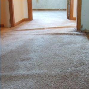 Carpet Buckle Repair In Piscataway, NJ - Before Photo