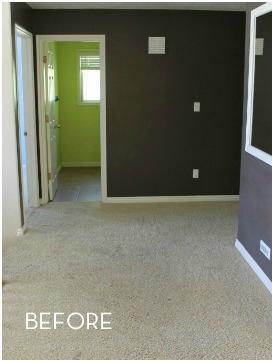 Second Floor Hallway With Vinyl Planks In Union, NJ - Before Photo