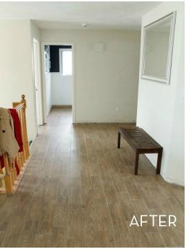 Second Floor Hallway With Vinyl Planks In Union, NJ - After Photo