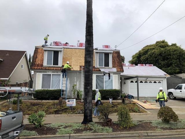 Asphalt Shingle Roof Replacement in Oceanside, CA - Before Photo