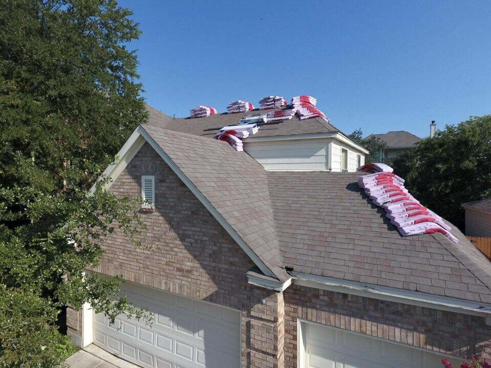 Roof Replacement in Stone Oak, San Antonio, TX - Before Photo