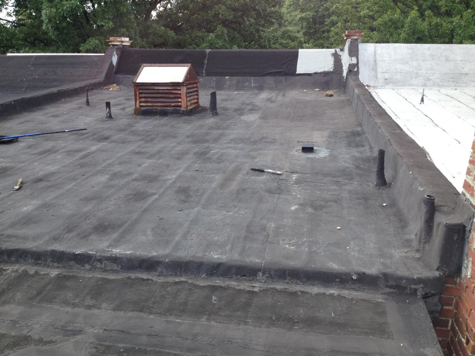 Flat Roof Repair - Before Photo