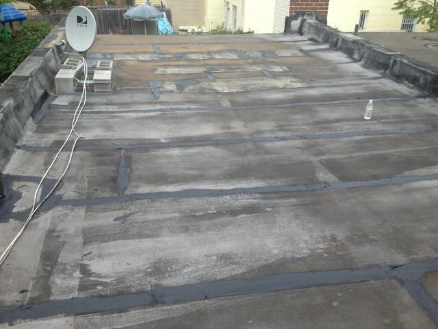 Flat Roof Replacement - Before Photo