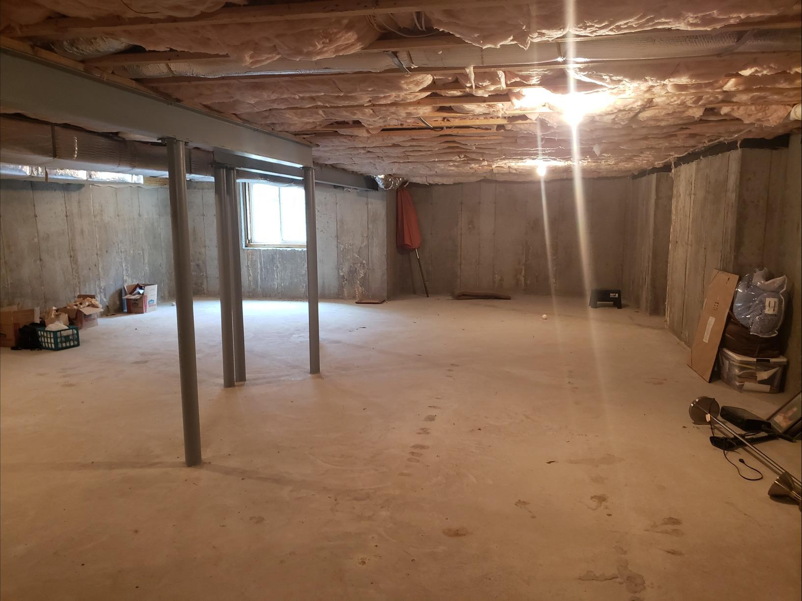Middlebury - Completely Renovated Basement - Before Photo