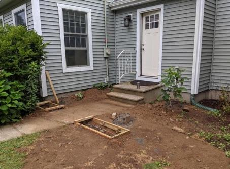 Southbury - Deck Build - Before Photo