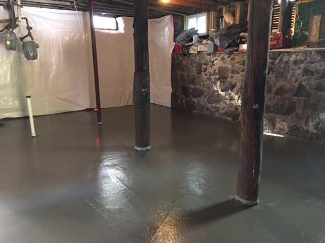 Complete Basement Finishing in Quincy, MA - Before Photo
