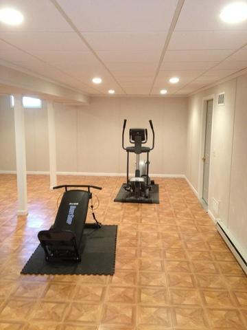 Basement finishing in Walpole, MA!