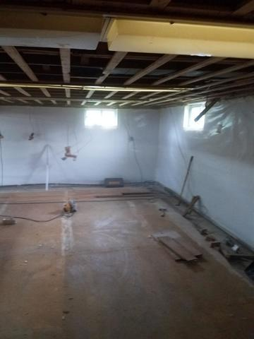 Swansea  MA Basement remodel - Before Photo