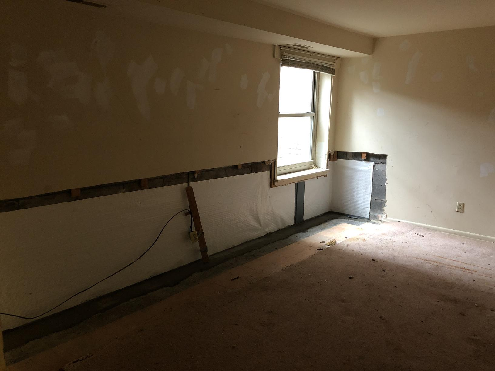 Annandale, VA Basement Unit Condo Full Perimeter System - After Photo