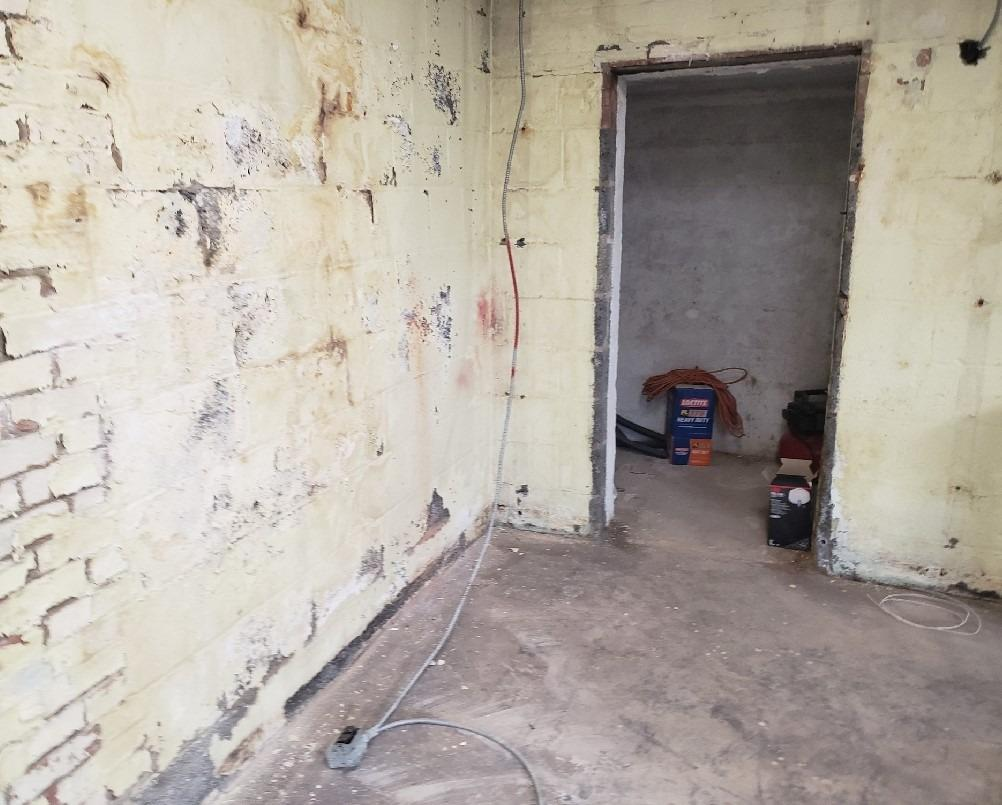 Basement Waterproofing in Arlington, VA - Before Photo