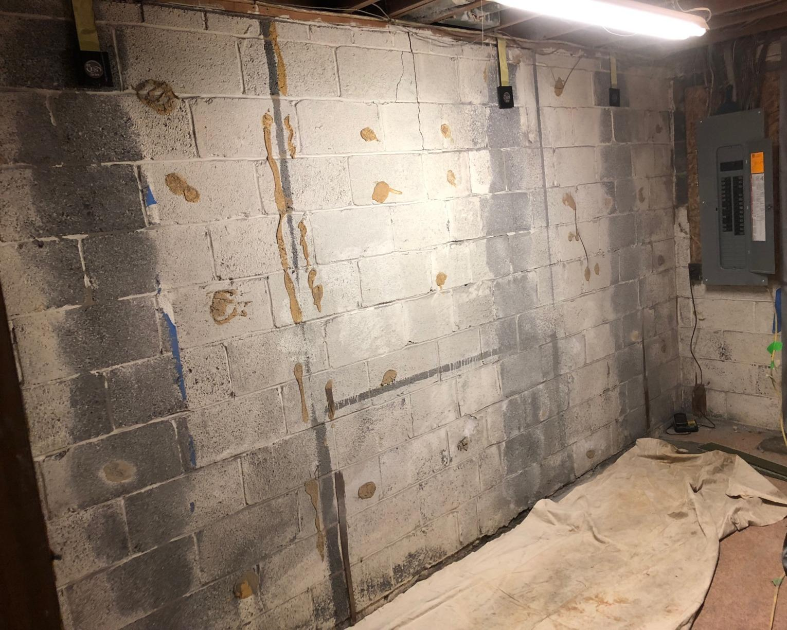CarbonArmor Wall Support in Fairfax, VA - Before Photo