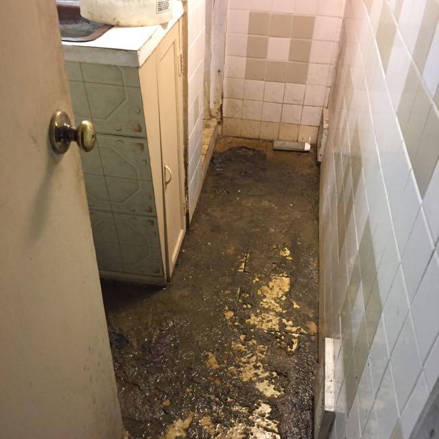 Sewage Backup in Lebanon, NJ - Before Photo