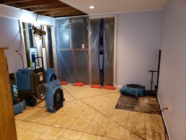 Pipe Break in Bathroom Basement in Milford, NJ