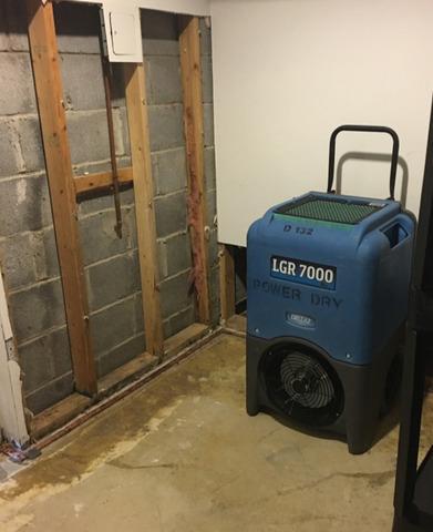 Basement Wall Pipe Leak in Morris Plains, NJ - After Photo