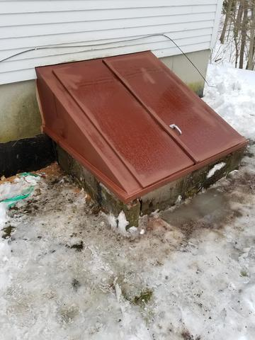 Installation of Angle Door with Foundation Plates in Bow, NH - After Photo