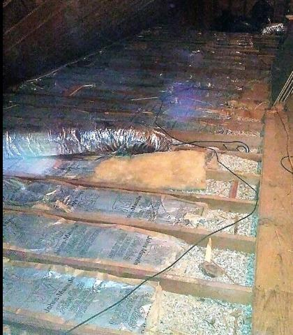 Norwalk CT - Vermiculite Removal in the Attic - Before Photo