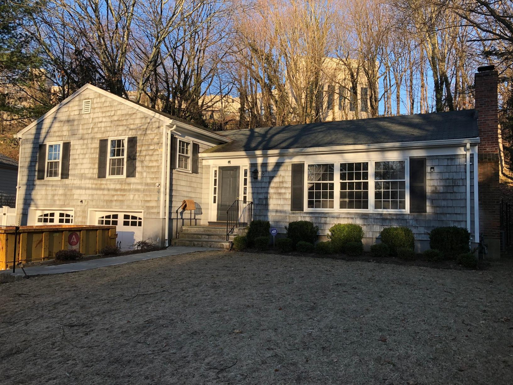 Exterior Siding, Trim, Windows and Entry Door Replacement - Greenwich, CT - Before Photo