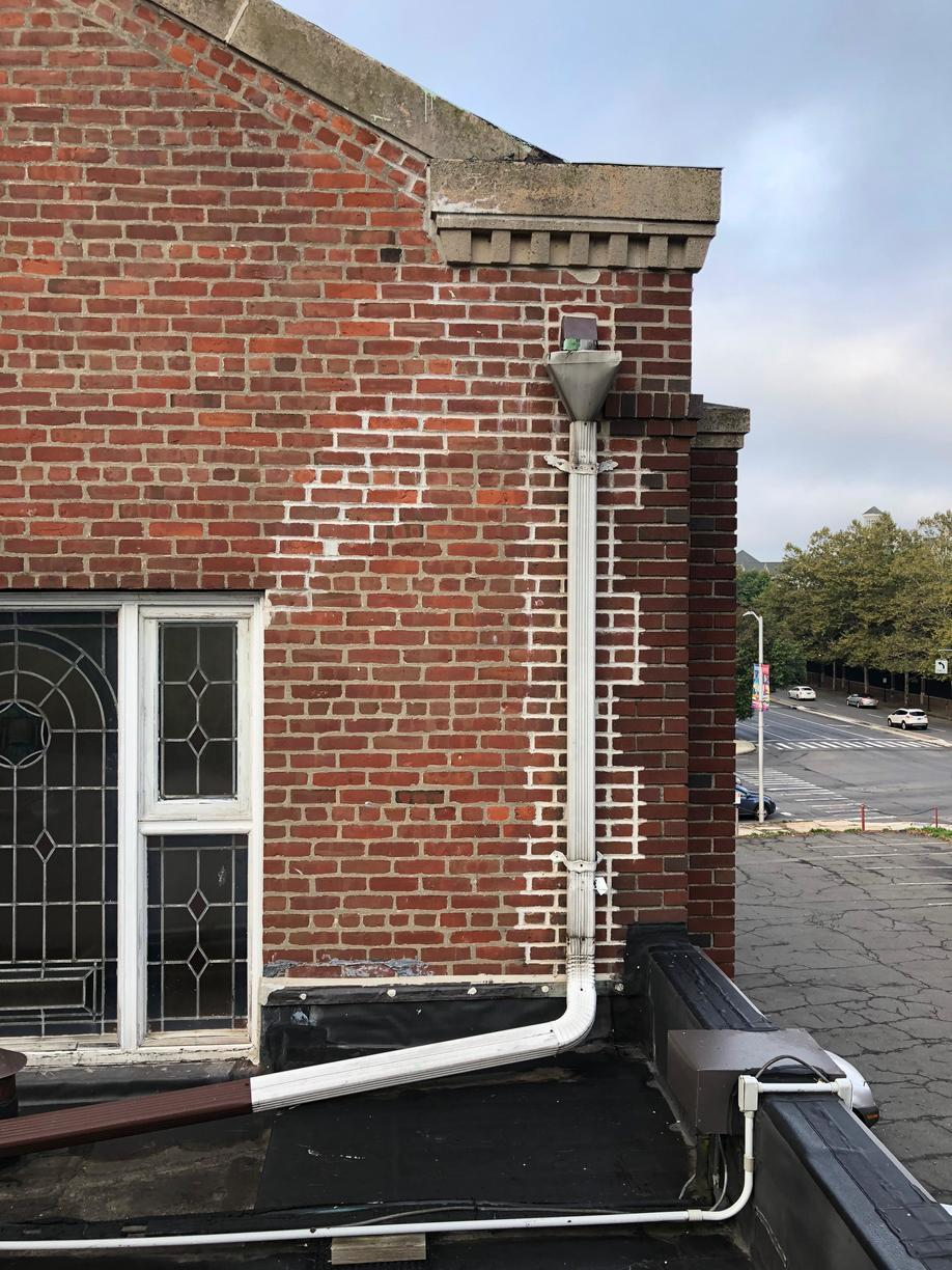 Downspout Replacement in Stamford, CT - Before Photo