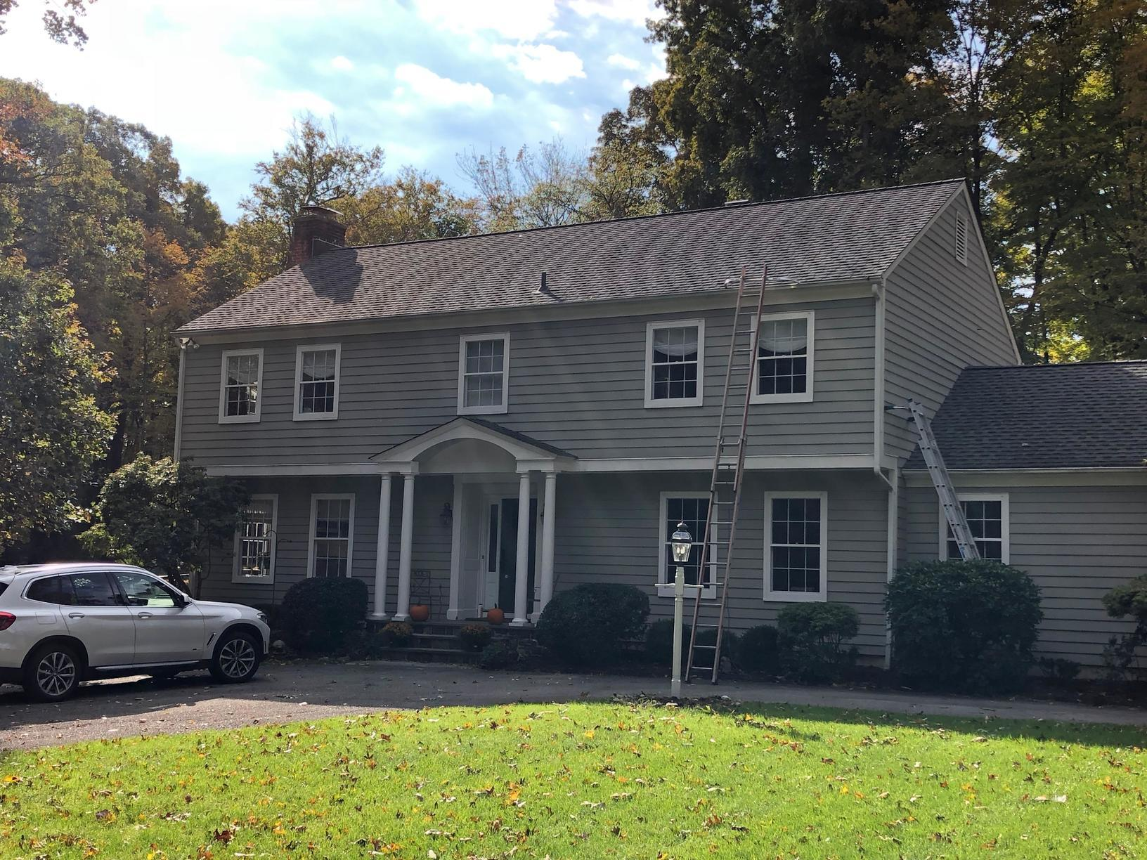 Gutter System - New Canaan, CT - Before Photo