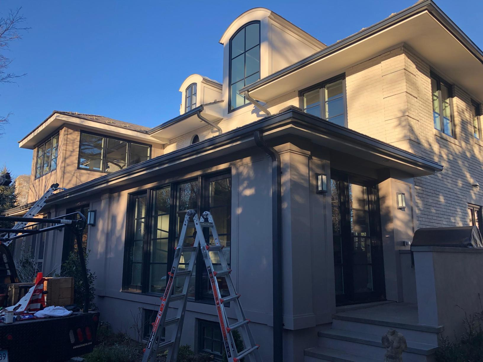 Rain Gutter Install in Greenwich CT - After Photo