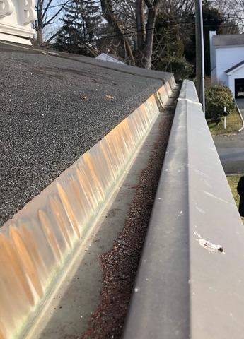 Copper Gutter Liner SIKA Application