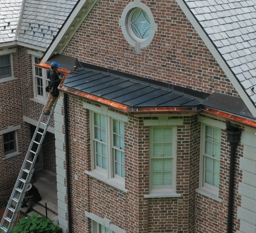 The Connecticut Gutter | Copper Gutter Rain System | Greenwich, CT
