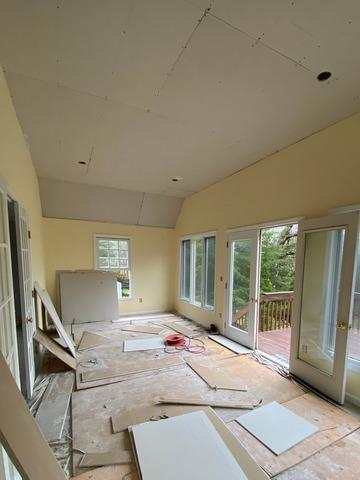 Living area remodel | Cos Cob, CT - Before Photo