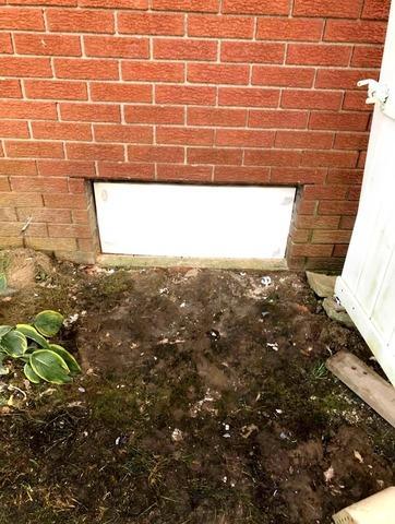 Crawl Space Door Install in Cory, IN