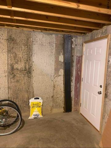 Basement Wall Repair in Sunman, IN - After Photo