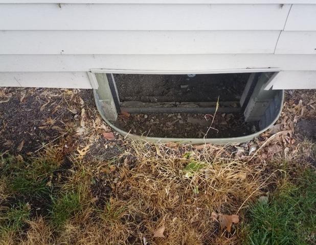 Crawl Space Door in Richmond, IN - Before Photo