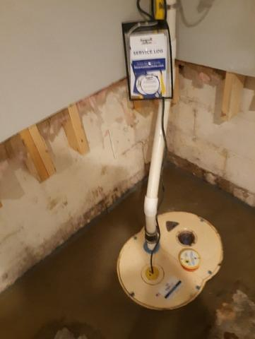 Basement Sump Pump Install in Bloomington, IN