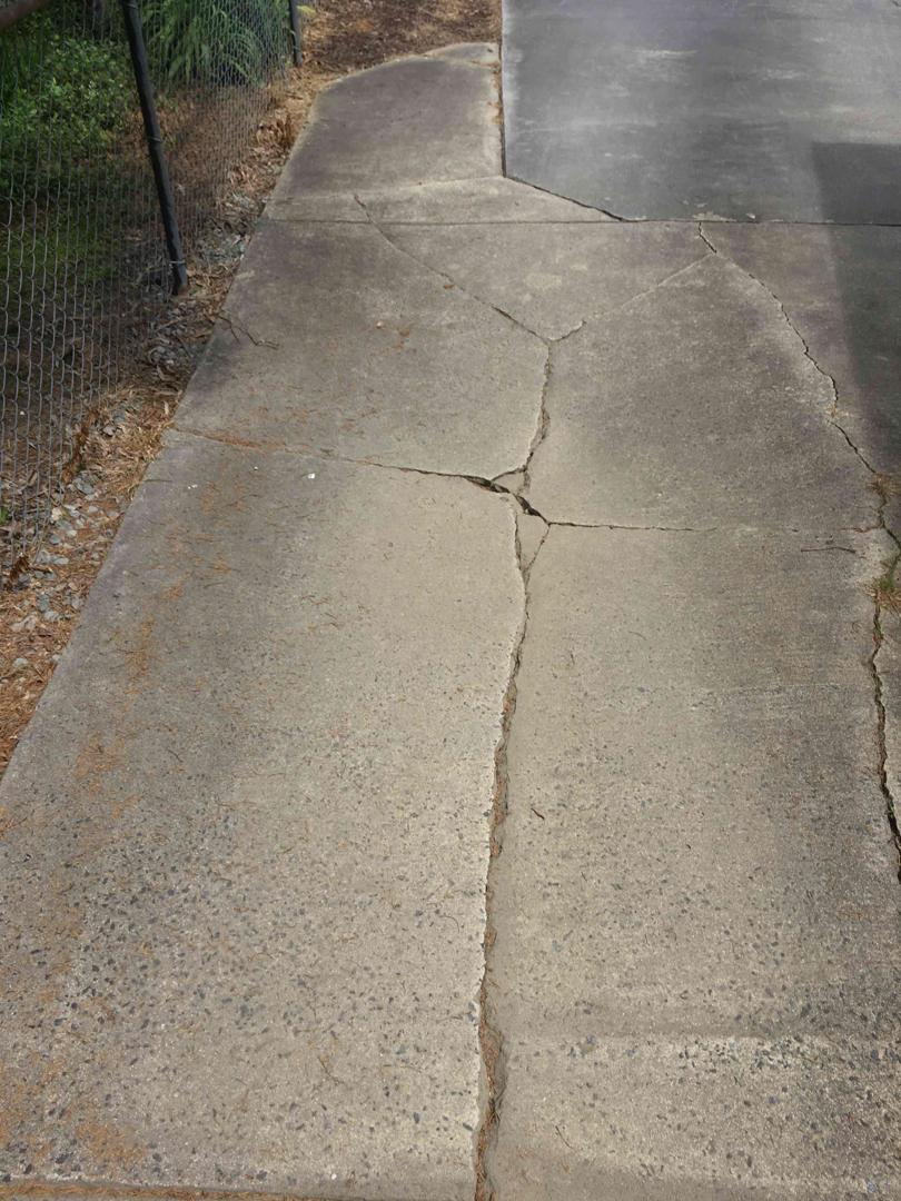 Slab Repair in Burlington, NC - Before Photo