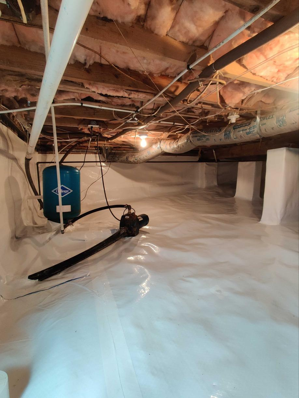 Protecting Burlington, NC Crawl Space from Water Vapor - After Photo