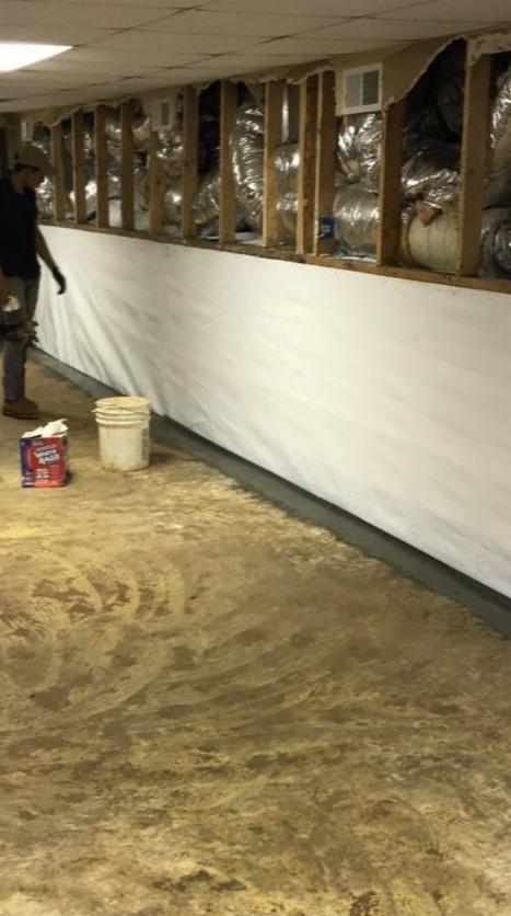 Waterproofing Water Damaged Basement in Mayodan, NC - After Photo