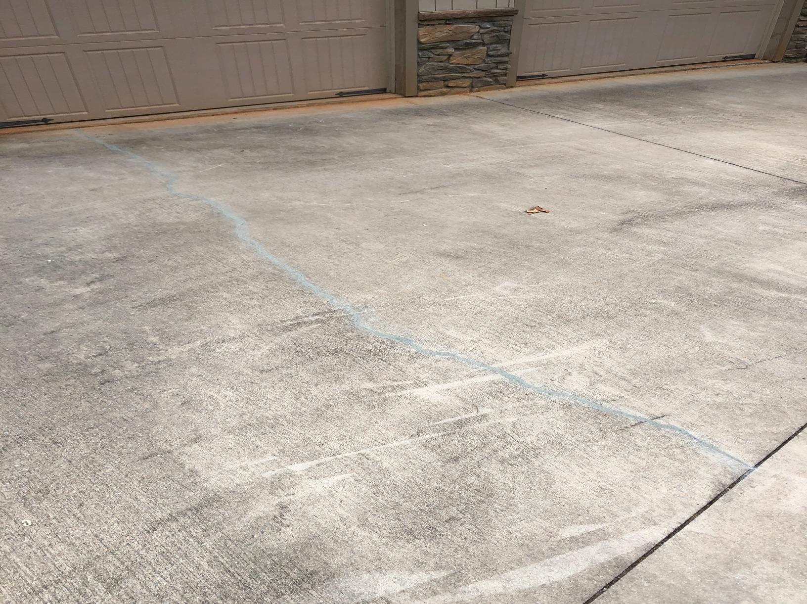 Fixing Cracked Concrete Driveway in Nebo, NC - After Photo