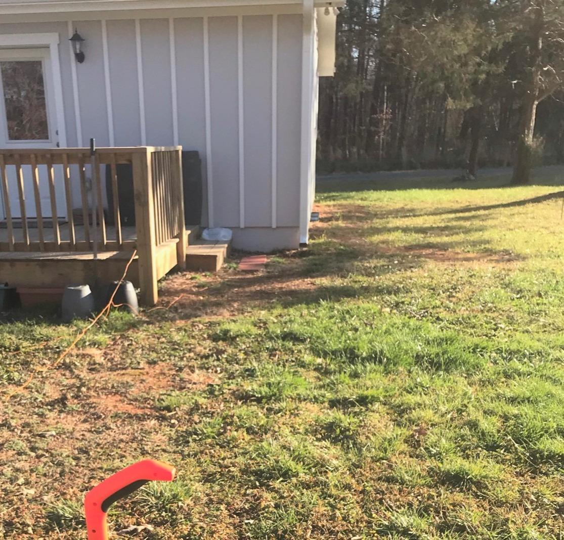 Downspout Installation in Mebane, NC - Before Photo