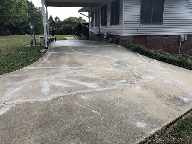 Concrete Driveway Repair Project in Winston Salem, NC