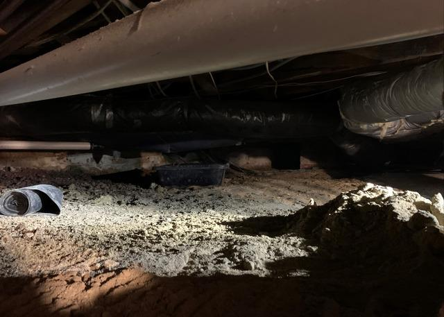 Greensboro, NC Crawl Space Cleaned and CleanSpace Installation